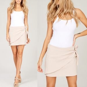 CHARLIE Wrap Skirt - BLUSH
